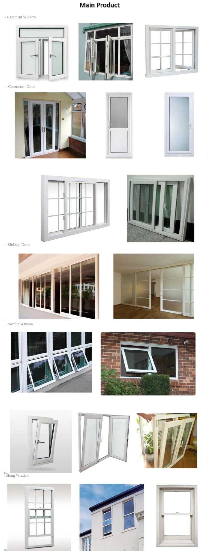 New design pvc door manufacture grill white frame with high quality