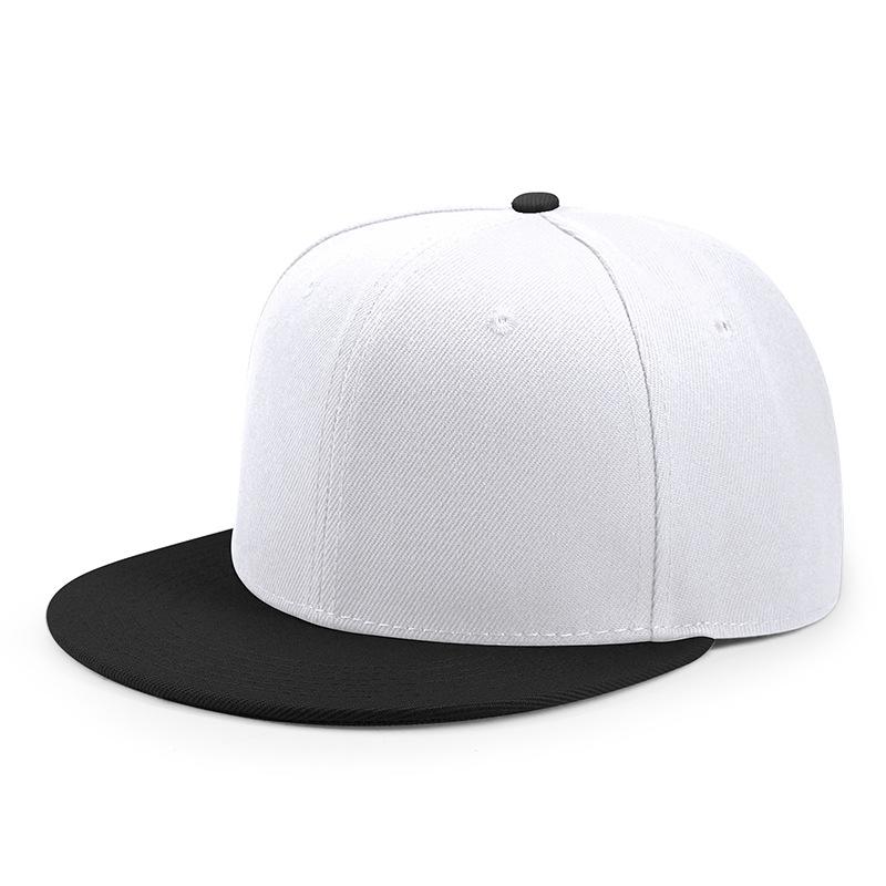ปรับแบนปรับแต่งหมวก hip hop PLAIN 6 แผงที่กำหนดเองที่ว่างเปล่าหมวก Snapback หมวก