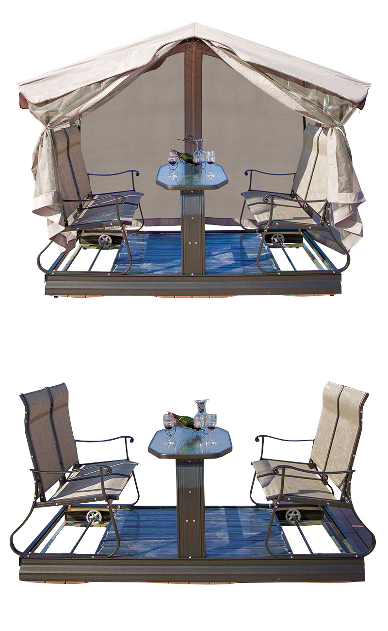 High quality swing chair garden 4 seater rocking chair roof outdoor me<em></em>tal patio wrought iron patio swings