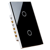 120 type new tempered glass panel smart touch light switch