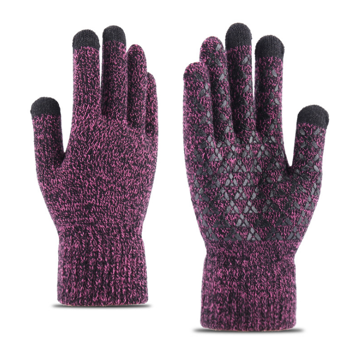 Winter Adult Custom Knit acrylic Gloves touchscreen with phone gloves