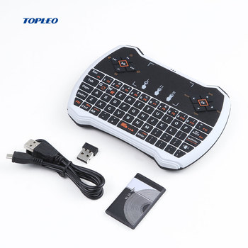 Topleo Air Flying Mouse KeyBoard i9 mini Game Keyboard 2.4G Wireless keyboard