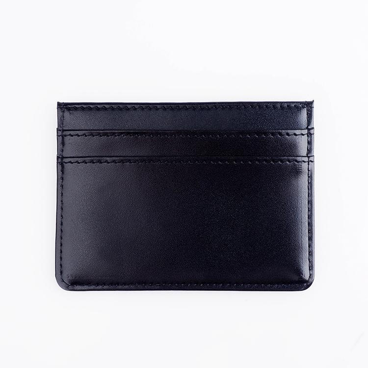 Personalizado Rfid bloqueo cuero titular de la tarjeta de crédito para la promoción