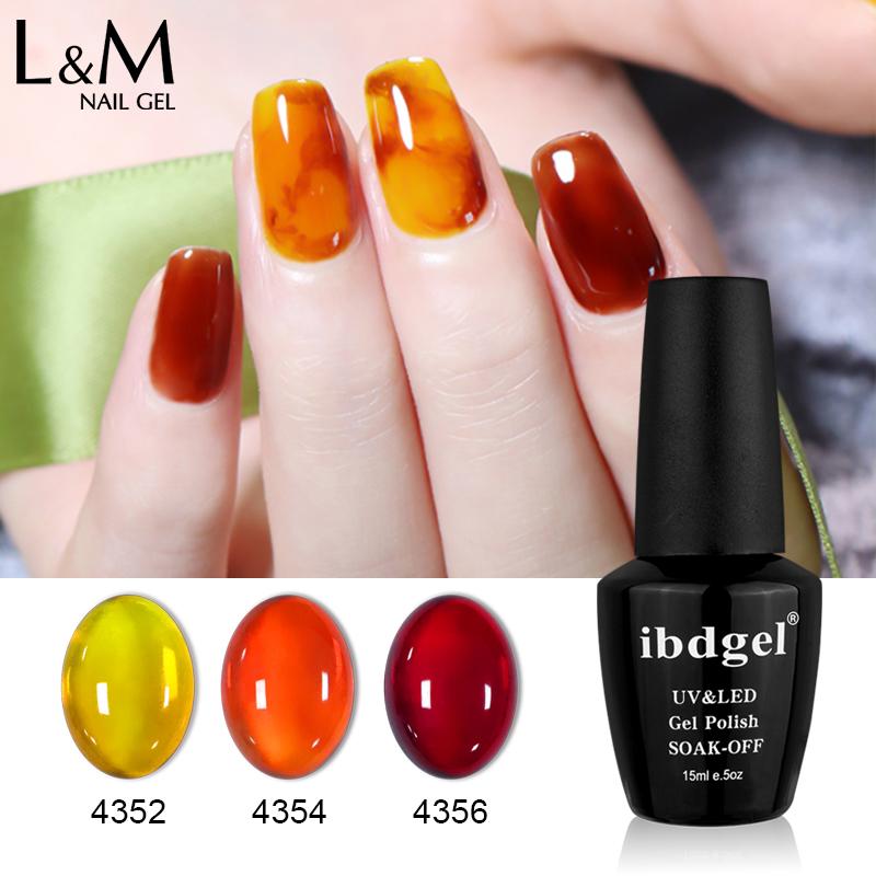 ibdgel amber glass gel polish clear color uv gel nail