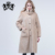 Fashion long  sheep shearing fur coat autumn jacket with sheep fur