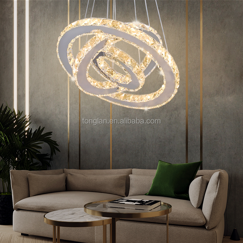New Fashion Chandeliers Pendant Lights Modern Crystal Pendant Light Modern Living Hotel Foyer Lobby Decorative Lighting Fixture