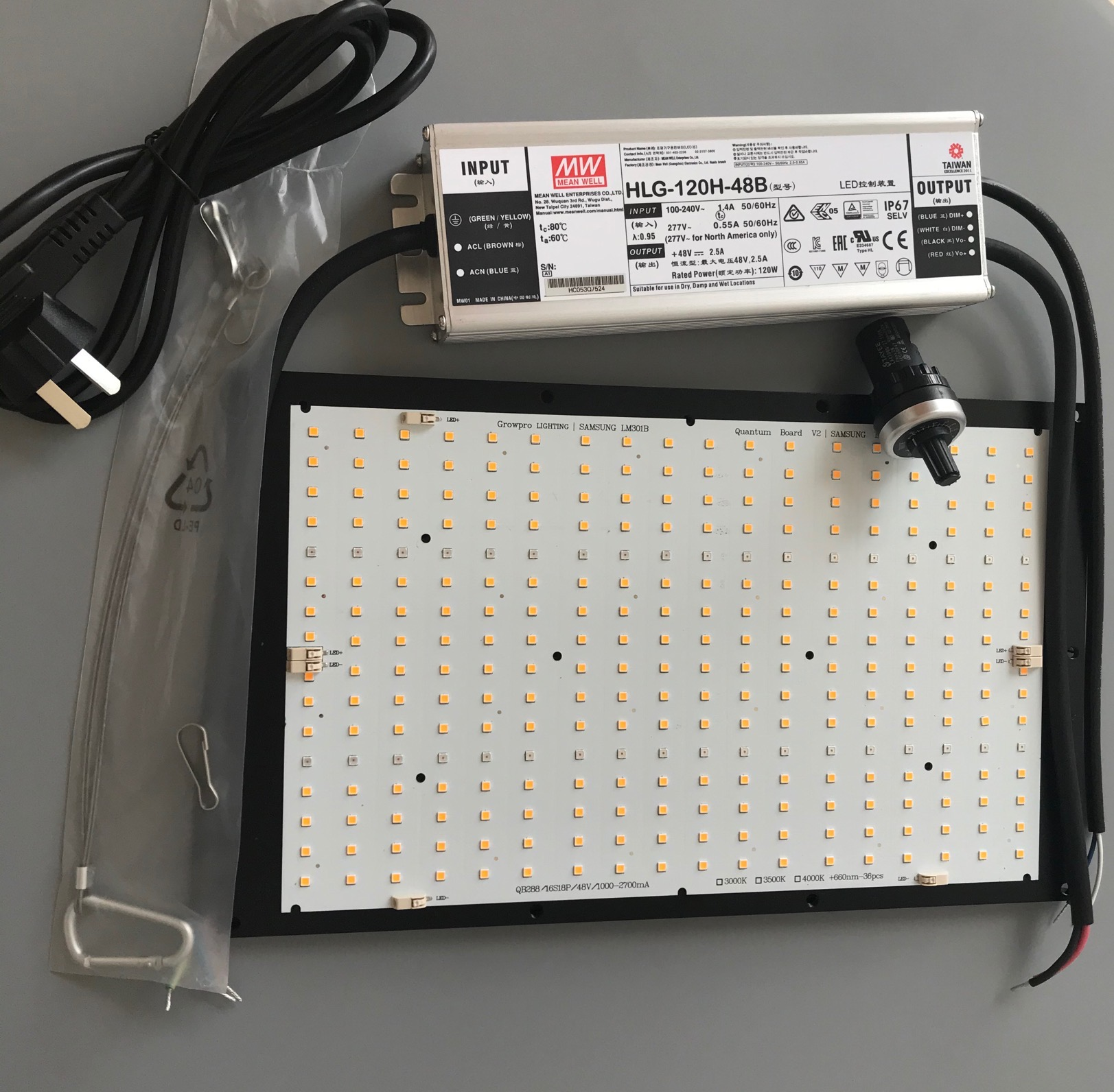 New Arrival 120W QB288 PCB LM301B Led Board For Led Grow Light