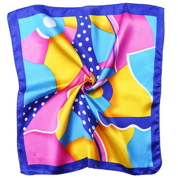 Custom Digital Print 50*50 cm Square Silk Scarf 100% Pure Satin Silk Scarf