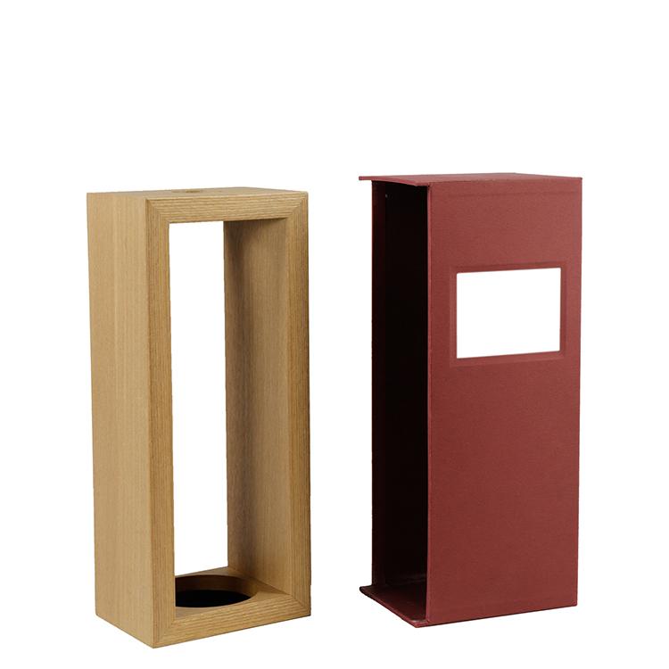 China Factory Handmade Magenta Magnetic Custom Cardboard 1 Bottle Wooden Box Wine Gift Packaging