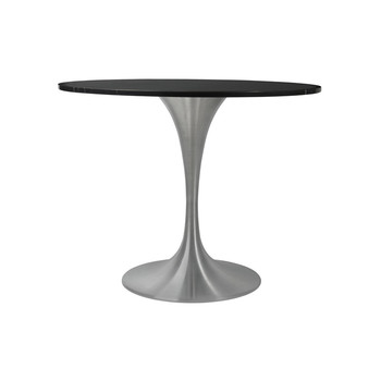 DT042-A Avery Black Marble Table Top Dining Design,Square,Black,China Nero Margiua Marble top Stainless Steel frame