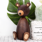 Russia Little bear wood ornaments for decor for furniture wood crafts shipping small gifts wood bear toy ornament home