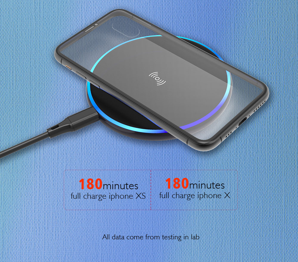 15W Wireless Charger Pad For Samsung iPhone Portable Cellphone Wireless Charger Wireless Charging Pad