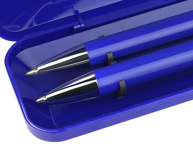 YC-046 Professional Manufacturer Popular Metal Stationery Gifts Promotion Office Blue Aluminum Retractable Ball Pen Refill