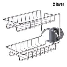 Высокая мыльница губка дренажный держатель для ванной настенный органайзер монтируемый стеллаж для хранения мыльница кухонная подвесная ...(Китай)