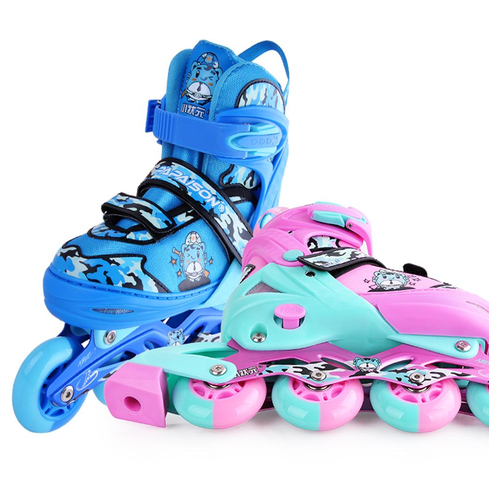 Inline Skate Ngoài Trời Trẻ Em Giày Trượt Con Lăn Người Lớn Cho Trẻ Em Với Ngụy Trang Phong Cách Trượt Băng Giày Trong Kho