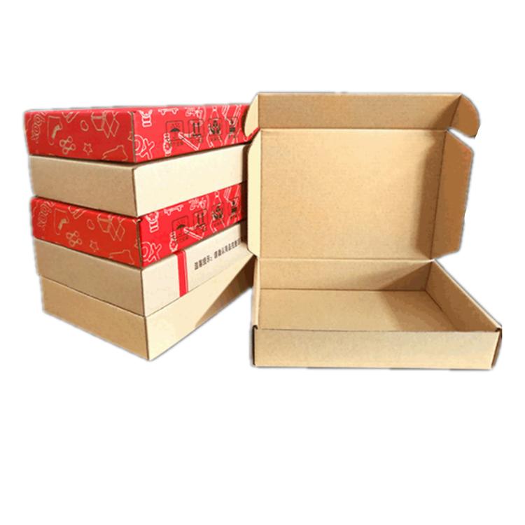 कस्टम सस्ते तह बॉक्स क्राफ्ट पेपर नालीदार पैकेजिंग बक्से के साथ लोगो
