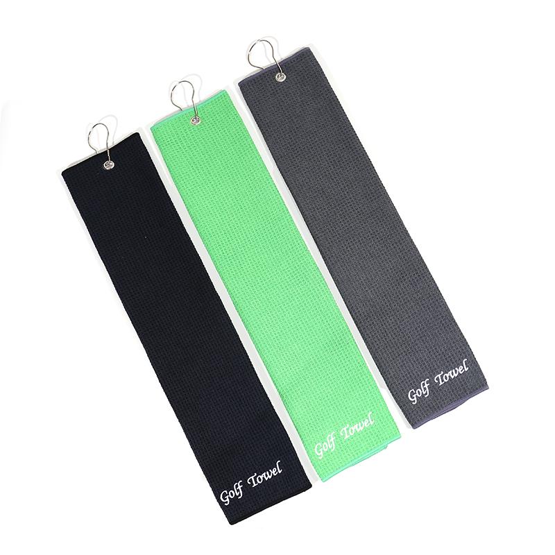 JALOFUN Customized Size Texture Fabric Golf Towel Microfiber Sport Waffle Towels
