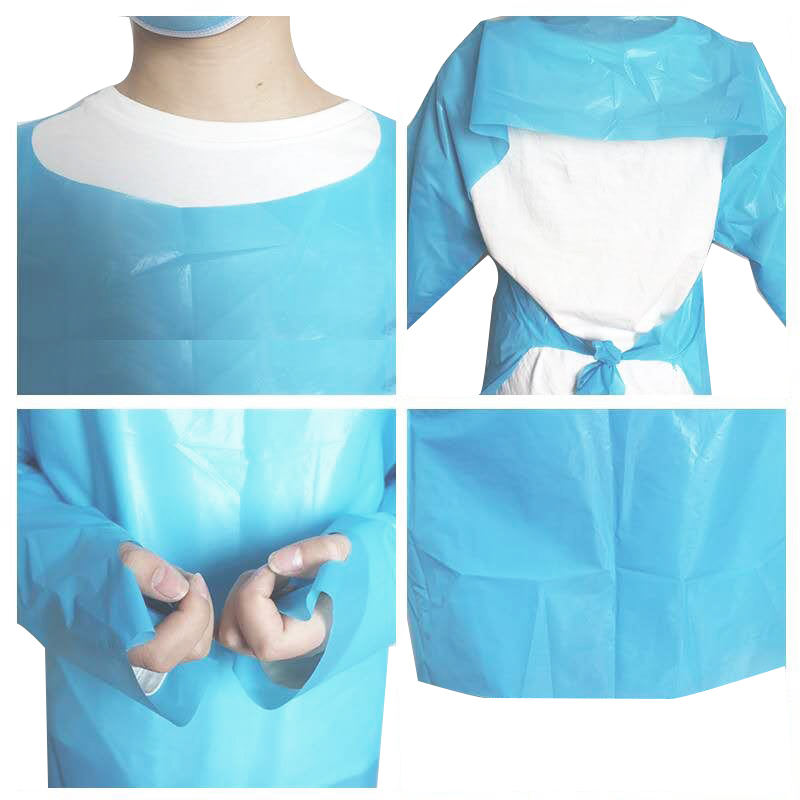 Hot Sale High Quality Universal Size Disposable Long Sleeves CPE Plastic Beauty SPA Barber Salon Cape Apron