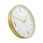 modern design metal black gold luxury wall clock for home decor