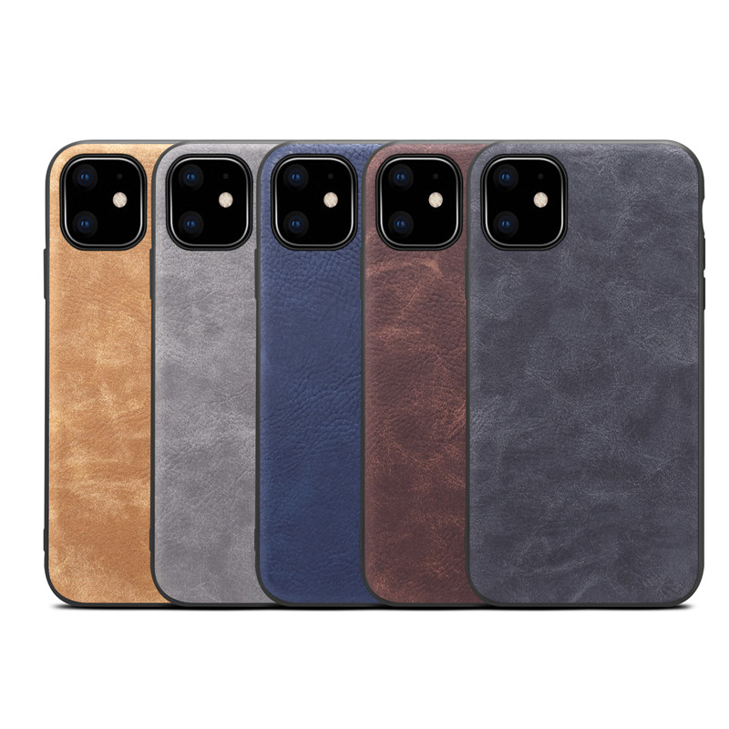 Vintage leather skin shell case for iphone 11pro <strong>max</strong>, shockproof PC Back Cover for iphone 11 11pro 2019 new case