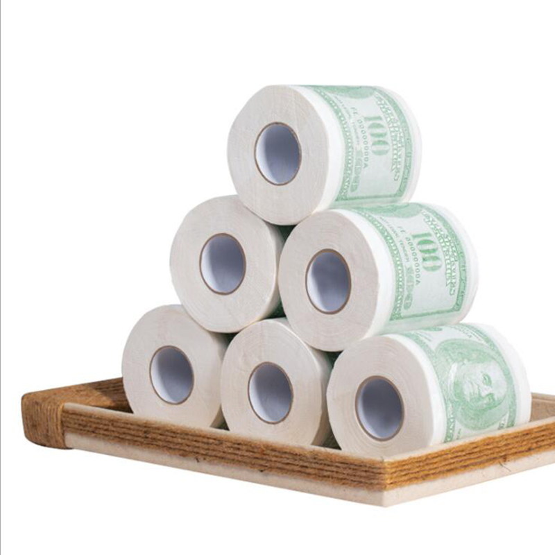 Customize virgin pulp & bamboo pulp 2 or 3 ply  printed toilet tissue paper roll bathroom pattern tissue dongguan factory sale