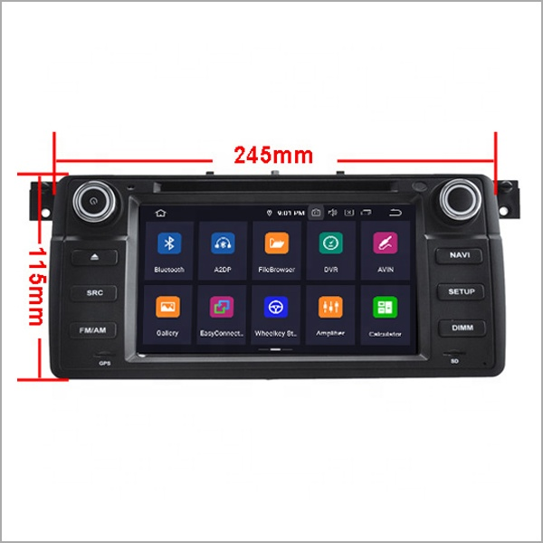 7 ''Newnavi Car Video Player Radio 4G di Ram 64 Gb Rom Android 9.0 Dvd Dell'automobile di Trasporto per Bmw E46 /M3 Accessori Supporto 3G/Wifi/Tpms