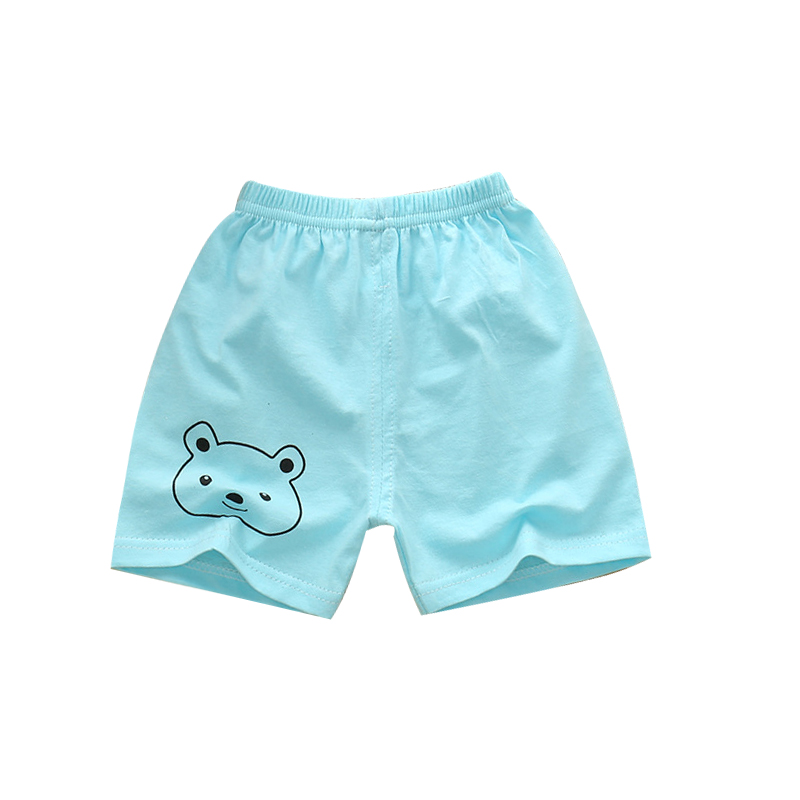 Newborn Baby Comfortable Short Pants Summer Plain Print Cute Cotton Baby Boys Shorts Wide Leg Toddler Shorts