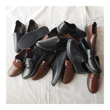 cheap leather men used shoes hot sale export for sale