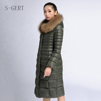 Down Coat Fur Hood Padded Winter Jacket Women'S Clothing Puffer Coat