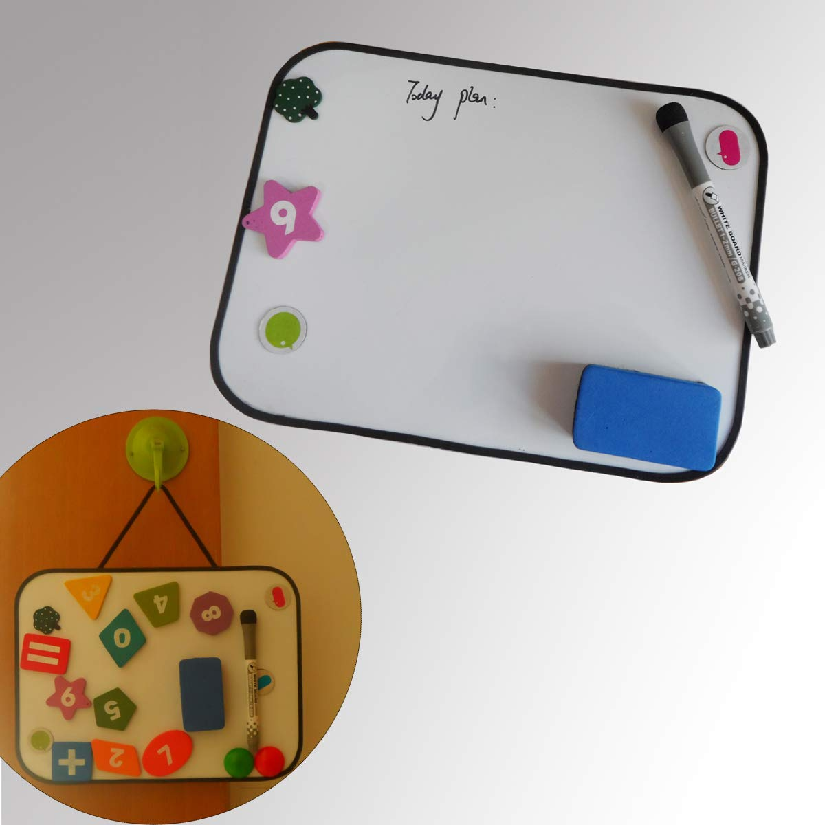 magnetic mini children kids customized dry eraser soft folding foldable flexible cardboard magic whiteboard easel stand price