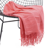 Solid Color Throw Blanket Lightweight Soft Cozy for Bed or Sofa Decorative Blankets 51''x67''
