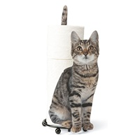 Indoor Printing Metal Cat Bathroom paper towel holder