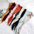 Long Scarf Long Pure Colors Silk Satin Long Skinny Scarf Tie Women Headband Scarf