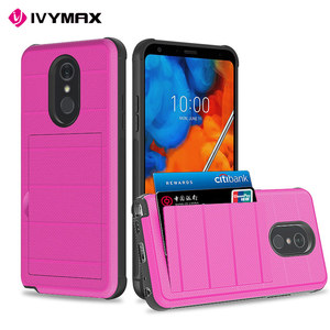 IVYMAX 2019 New High capacity card slot shockproof mobile phone case for lg stylo 5