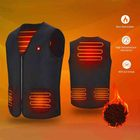 Outdoor Built-in 5 Pcs Heating Pads Heated Jacket Clothes USB Charging Warmer Heated Vest
