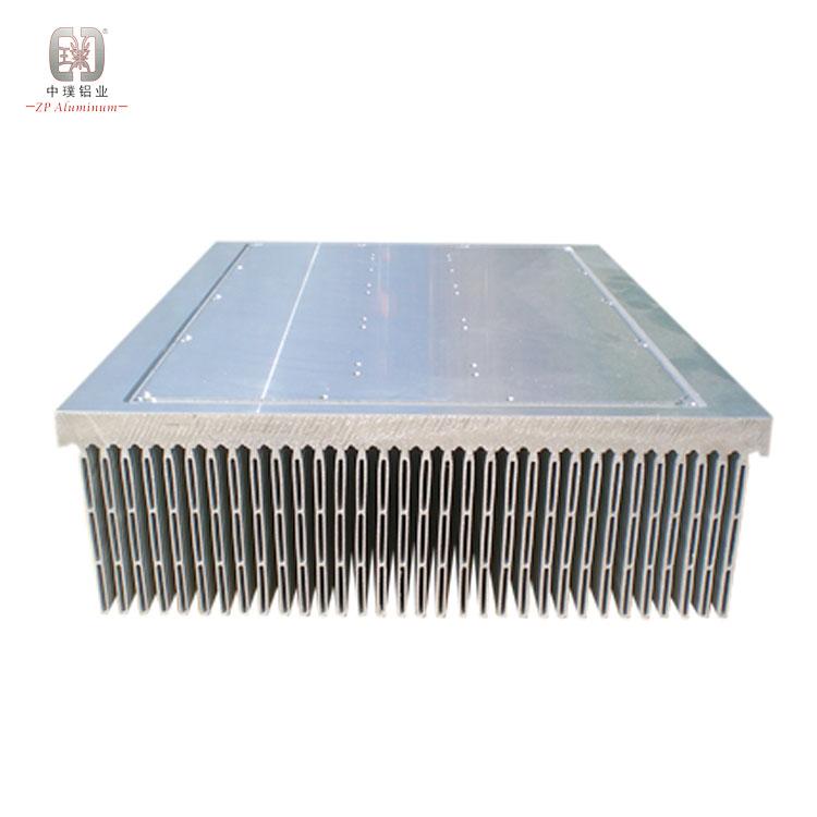 Aluminium profile flexible insert stacked folded fin heat sink radiator peltier for power amplifier