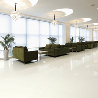 Commercial building ivory white ceramic polished floor tile