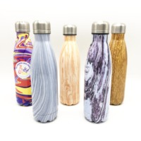 Custom Logo Milk Drinking Stainless Steel Cola Thermos Bottle 500ml Vacuum