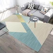 Новый современный 3d-ковер с геометрическим деревянным полом для гостиной, нескользящий моющийся ковер для молитвы, коммерческого использо...(Китай)