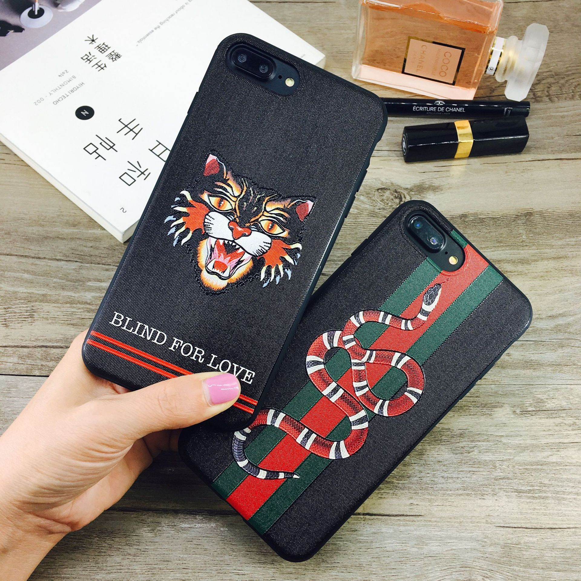 top selling euramerican fashion design embossing tiger/snake slimTPU phone case For iphone X/XS <strong>max</strong>,7/8 plus