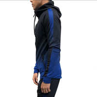 OEM competitive price men's plain cotton hoody sweat suits wholesale jogging suits sport black track suit