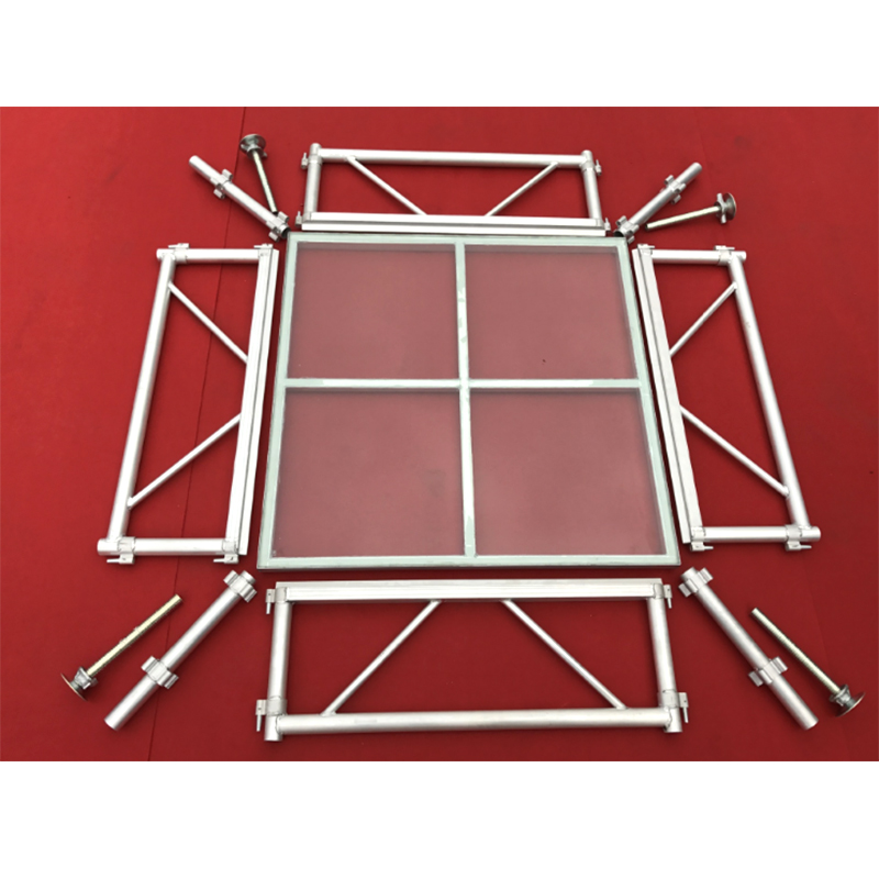 Event Custom Portable Aluminum Acrylic <strong>Stage</strong> for Lighting Truss Glass Floor Outdoor Concert <strong>Stage</strong>