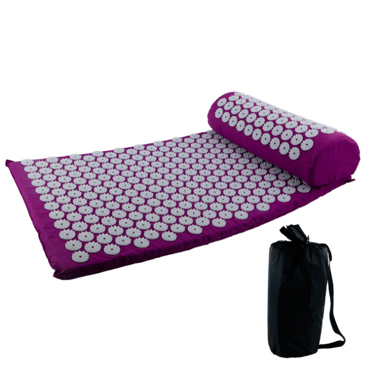 Yoga massagem almofada de Base do porto acupressure mat conjunto com o saco