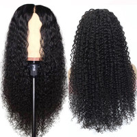 Wholesale Raw Indian Virgin Hair Women Curly Wig Cuticle Aligned Full Swiss Lace Front Closure Indian Human Hair Wig Kinky Curly