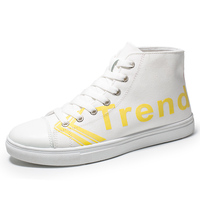 Wholesale Customized Fashion Multicolor Canvas Leather Upper men Casual Shoes Reflective white shoes