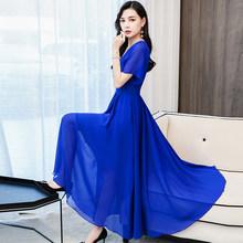Весна-лето 2020 шифоновое пляжное макси платье 3XL размера плюс однотонное винтажное подиумное платье миди элегантное женское облегающее вече...(Китай)