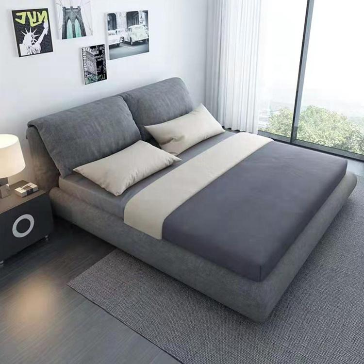आधुनिक यूरोपीय डिजाइन डबल भंडारण दराज के साथ बिस्तर राजा रानी आकार पु चमड़े बिस्तर