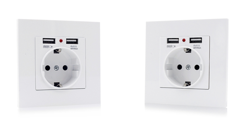 Goods In Stock Europe Standard Single Outlet 250v With