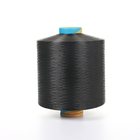 Moisture-Absorbent [ Dyed Yarn ] Polyester Dyed Yarn 300d 96 Polyester Dty Dope Dyed Black Yarn For Luggage Fabrics