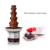 Commercial DHC7F chocolate fountain 7 layers full 304#stainless steel with adjustable temperature control switch